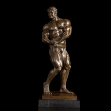 Best selling  bronze Muscle man sculpture with casting method