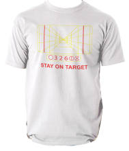 119f0a21a MENS STAR WARS STAY ON TARGET T-SHIRT DARTH VADER YODA ALL SIZES FIVE  COLOURS Free shipping Harajuku Tops Unique T Shirt