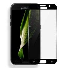 2 Pçs/lote Cobertura Completa Protetor de Tela Para Samsung Galaxy A3 A5 A7 2017 Película Protetora de Vidro Temperado Para Samsung A5 2017