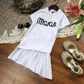2016 лето пункт новый Корейские девушки с короткими рукавами платье шить рыбий хвост платье Бесплатная Доставка