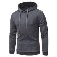 2018 New Fashion Mens Hoodies Brand Men Lattice Jacquard Sweatshirt Male Hoody Hip Hop Autumn Winter