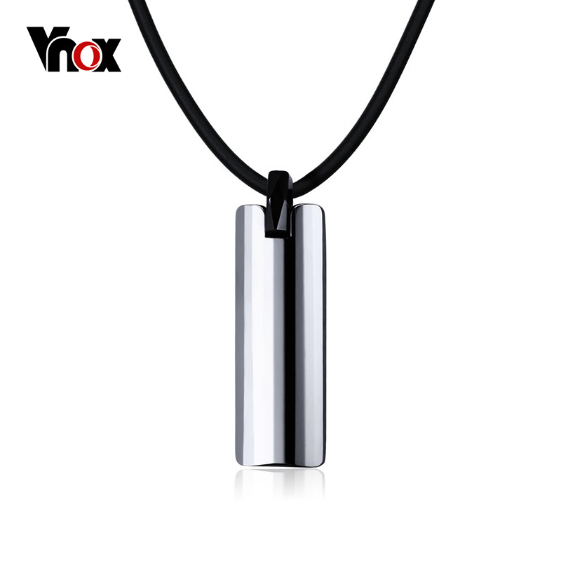 Vnox Rock Punk Necklace Men Jewelry 100 Tungsten Carbide Necklaces Pendants Free Black Chain 20