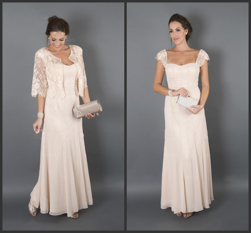 2017 bridal mother dresses for beach wedding long cap sleeves wedding guest dresses mother of the