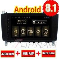 TOPNAVI Android 8,1 Octa Core 2Din стерео для Benz C Class W203 2004 2005 2006 2007 gps навигации RDS 3g WI FI Bluetooth карта