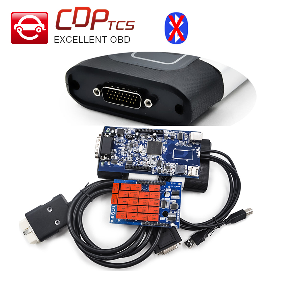 CDP TCS cdp pro plus 2015.03 keygen software with LED flight function TCS obd2 OBDII