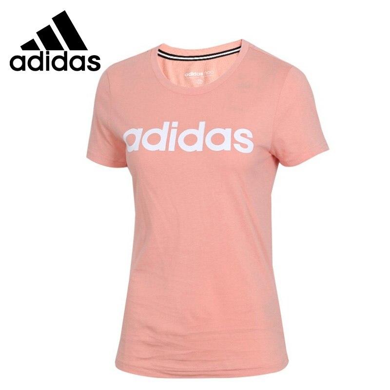 Nueva camiseta Original Adidas NEO W CE para mujer, ropa deportiva de manga  corta