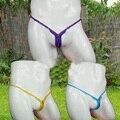 2016 Mens homem Sexy Tanga virilha aberta G-corda Calcinhas T-Back Briefs penis gay jockstraps Cueca Sexo Lingerie erótica brinquedos