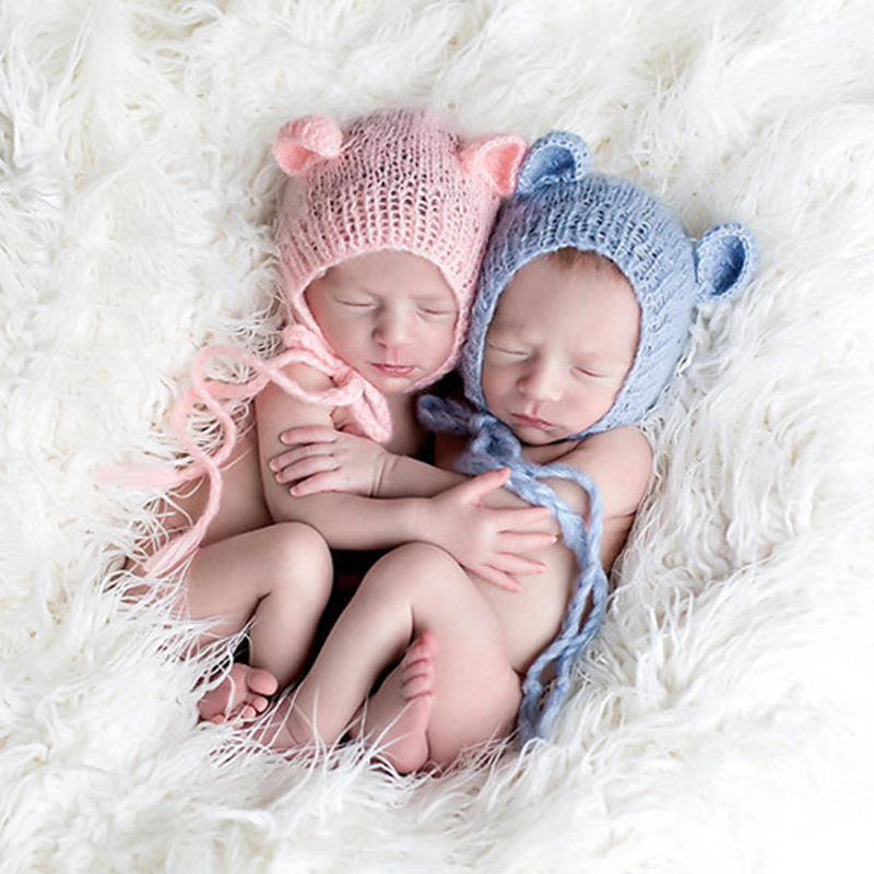 83bbf206a Best buy Newborn Baby Girl Boys Cute Ears Mohair Hat for Photography Props  Infant Baby Girl Caps Picture Photo Shoot Props Mut Bonnet online cheap