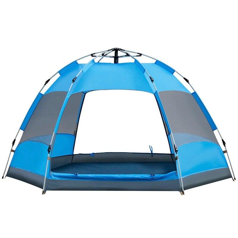 3-5 personnes Ultralarge Double porte automatique ouverture tentes famille touriste tentes Double couche coupe-vent 4 saison tente AA12035
