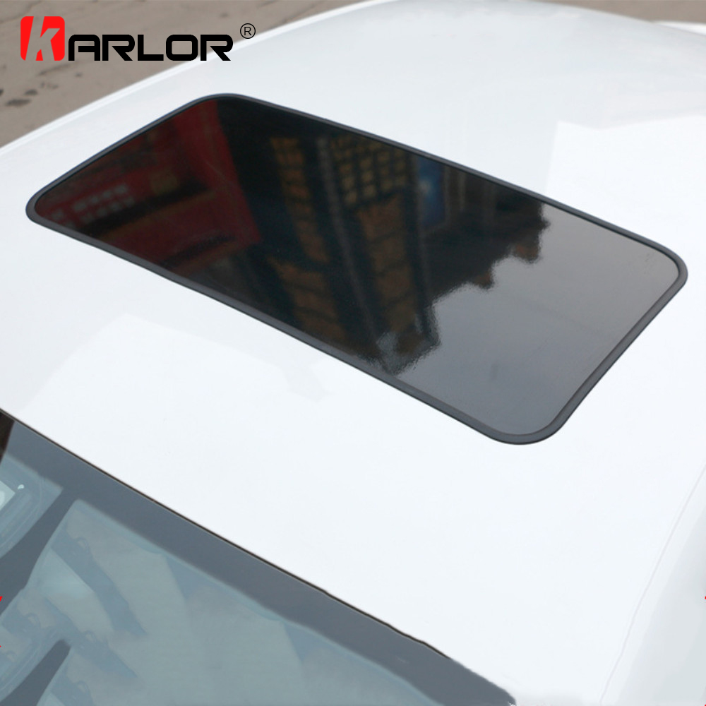 79X38cm PVC Glossy Car Roof Vinyl Film Stickers Simulation Panoramic Sunroof Protective Film Covers 3M Decorative Rubber Strip