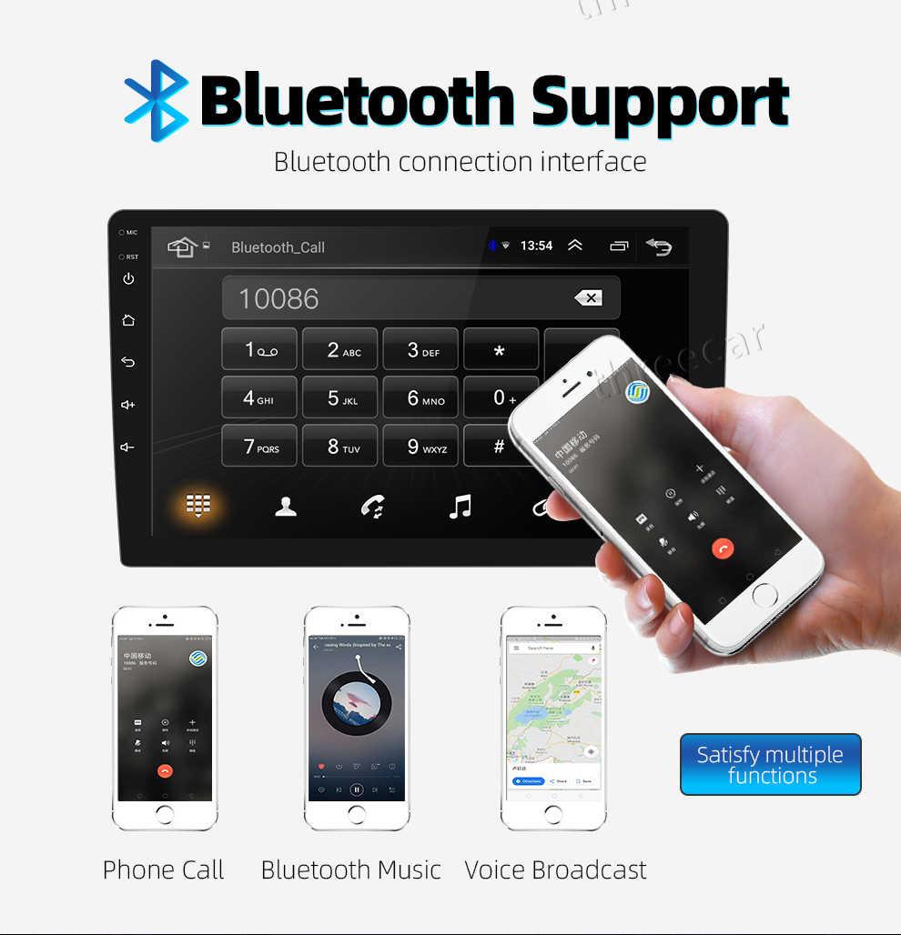 9/10 дюймов Android 8,1 Универсальный Автомобильный плеер 2 din 2G ram + 16G rom android Автомобильная Радио gps навигация wifi Bluetooth MP5 задняя камера