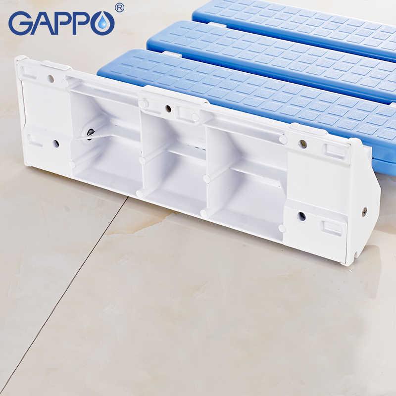 كرسي حمام متحرك مثبت على الحائط GAPPO كراسي قابلة للطي ABS للحمام للأطفال مقاعد قابلة للطي للاستحمام والاستحمام