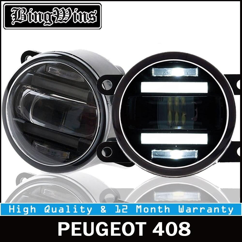 BEINGWINS 2012 For PEUGEOT 408 foglights+LED DRL+turnsignal lights Car Styling LED Daytime Running Lights LED fog lamps