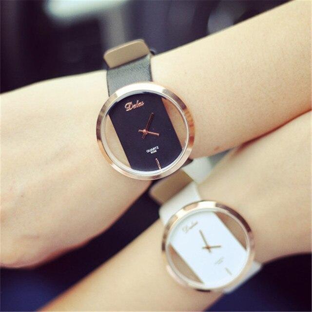 2018 Fashion Women Bracelet Quartz Wristwatches Retro Quartz Leather Watch Creat