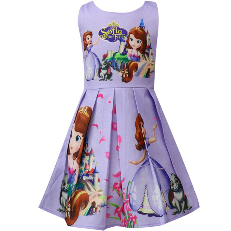 Good Quality Hot 2018 New Toddler Girls Summer Dresses Cute Princess Sofia Dress Fancy Halloween Costume Kids Party Dress Girls