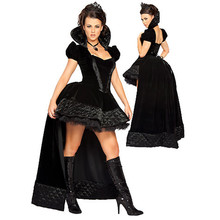 Sexy Enchanting Black Queen Princess Costume Halloween Costume For Women Womens Cosplay Witch Fancy Dress Clubwear Party Wear