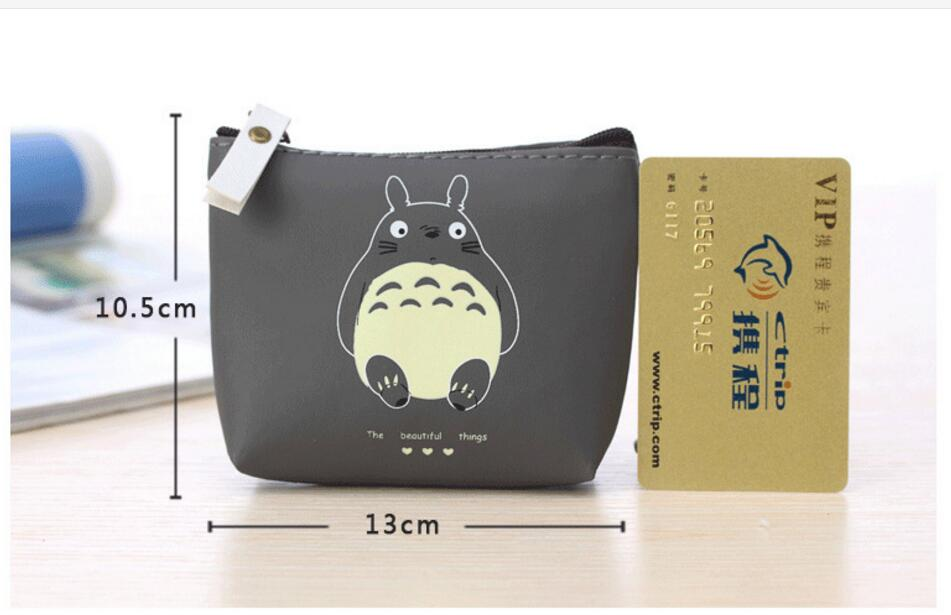 1 piece Cute my neighbour Totoro PU Coin Purse Cartoon Lovely Waterproof Mini Storage Bag For Cardholder In-ear Headphone fashion coin purse wallets mini bag league creative personality canvas bags cartoon storage bags for cardholder in ear headphone