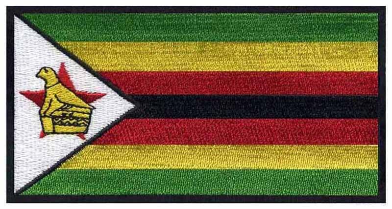⓪Bordado Bandera de Zimbabwe 3 /parches congelados/tela applique ...
