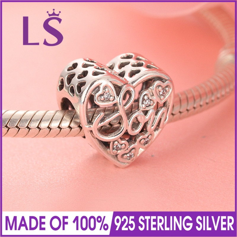 LS New Arrival Real 925 Silver Mother & Son Bond Charm Mothers Day Beads Fit Original Bracelets Pulseira Encantos.Fine Jewlery