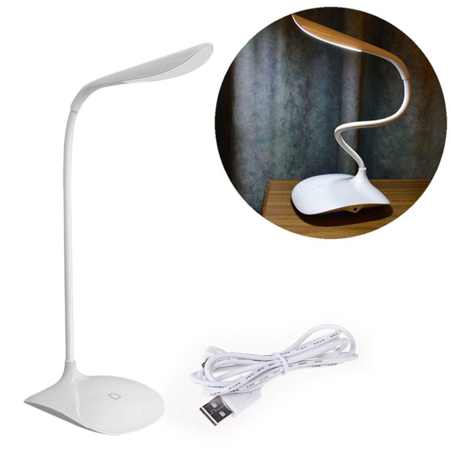 Mini 18 LED Bulbs Table Lamp Usb 3 Level Dimmable LED Desk Light Night Light  Auto