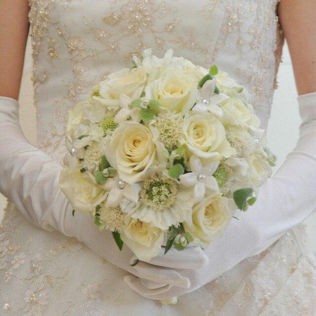 6pcs Foam Wedding Party Mariage Decoration Flowers Holder Bouquet Handle Bridal Floral DIY Craft