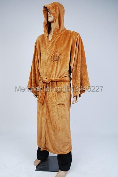 Star Wars Terry Jedi Bathrobe for Men Brown Robe Cosplay Costume Plus Size New Arrival Sleep wear
