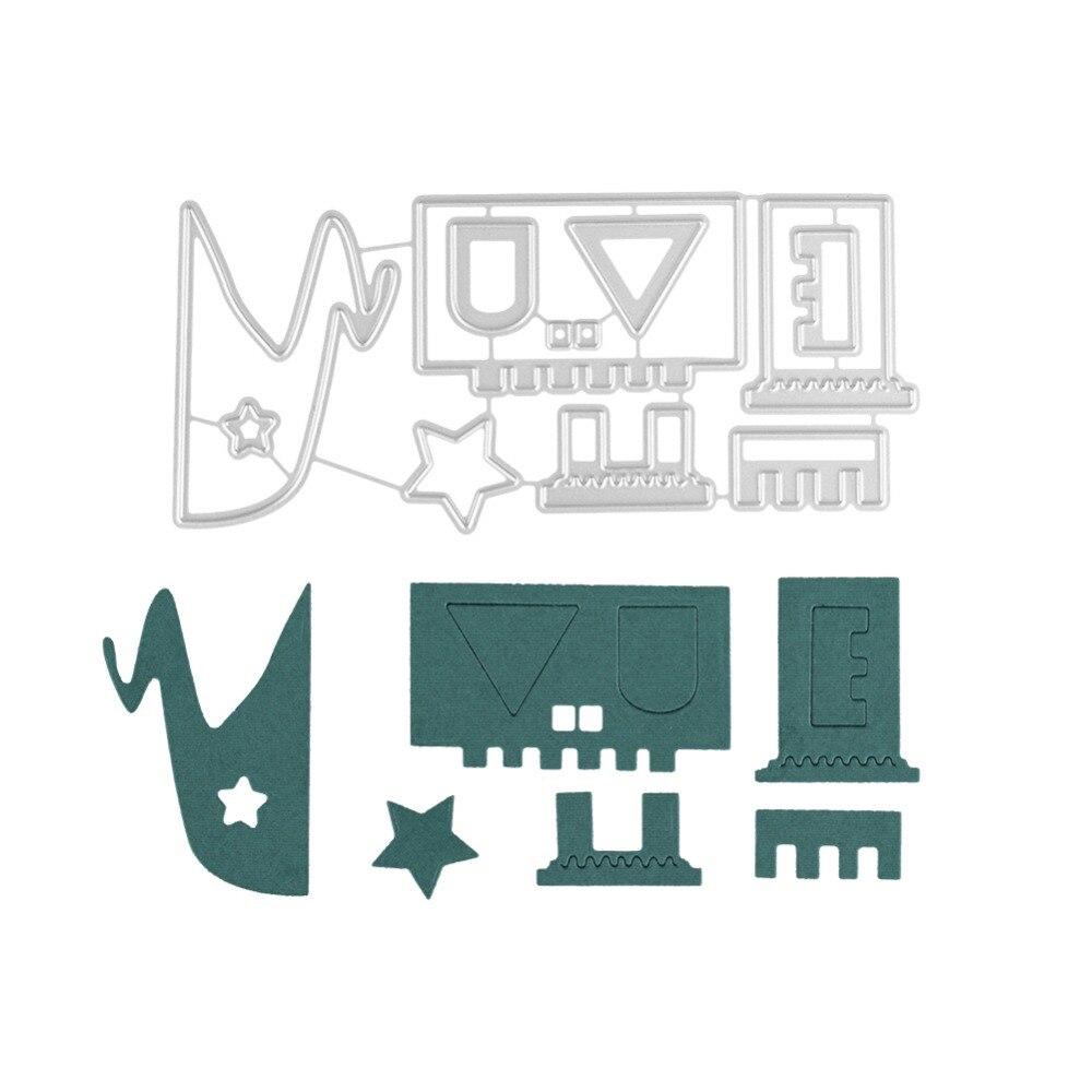 Swovo Beautiful House Building Frame Metal Steel Cutting Dies Stencil 119MM*55MM For DIY Scrapbooking Paper Card Embossing Die