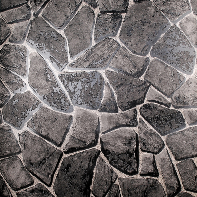 Stone Wall Paper aliexpress : buy pvc black 3d stone wallpaper for living room