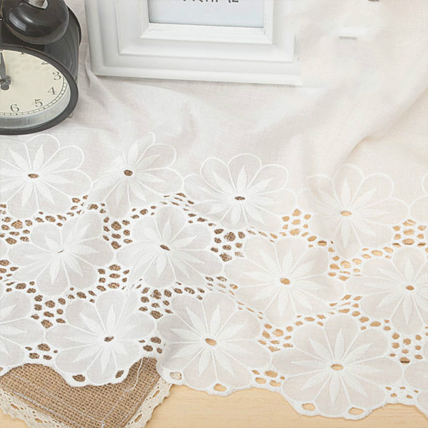 37cm high quality cotton embroidery lace skirt DIY handmade accessories