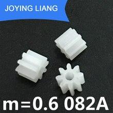 Модуль шестерни 082A 0,6 м, 0,6 пластмассовые шестерни, 8 зуб, 2 мм, туго для вала двигателя, игрушек, аксессуаров, 5000 шт./упак.