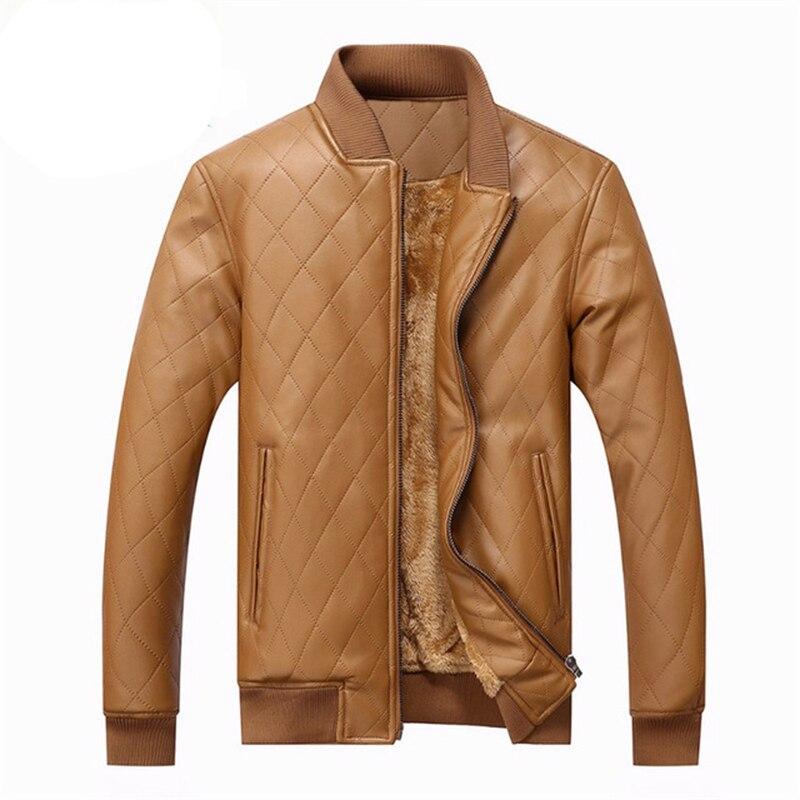 Marque Manteaux Vestes Hommes veste Doux PU Mâle Faux En Cuir Automne Hiver Casual Col montant Coupe-Vent Moto 2017 Nouveau
