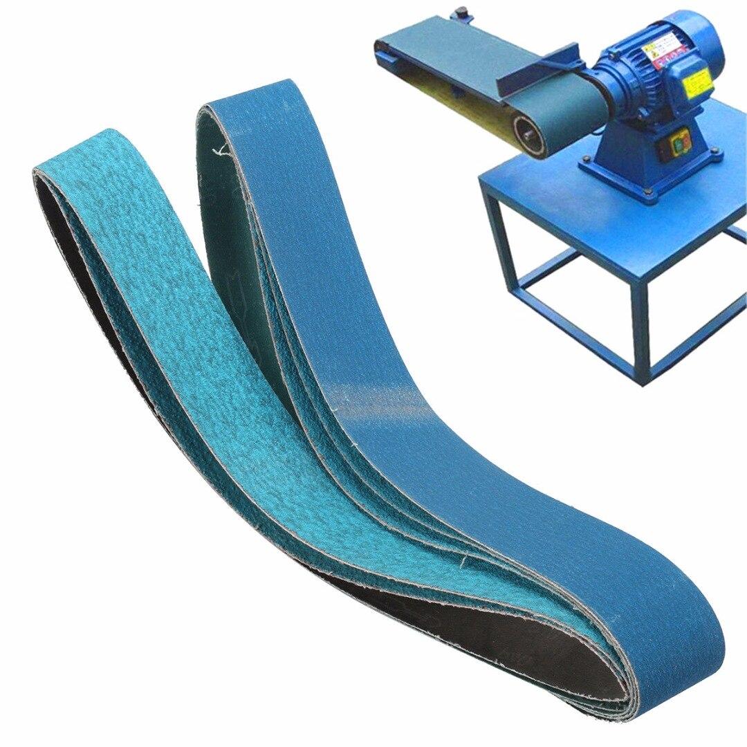 5pcs New 915mm*50mm Mixed Grit Linishing Sanding Belts Zirconia 40# 60# 80# 120#