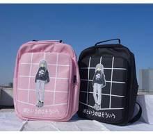 Weibliche Neue Fashion Plaid Gedruckt Tasche Frauen Leinwand Rucksack Schule Für Teenager Mädchen Vintage Rucksack Casual Umhängetasche Grid