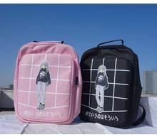 Female New Fashion Plaid Printed Bag Women Canvas Backpack School For Teenager Girls Vintage Backpack Casual Shoulder Bag Grid
