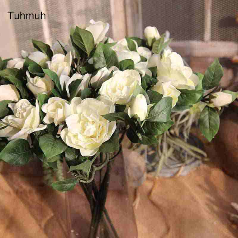 8pcs artificial gardenia flowers vivid camellia silk flower for 8pcs artificial gardenia flowers vivid camellia silk flower for party wedding home decoration 4 colors in artificial dried flowers from home garden on mightylinksfo