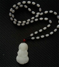 Natural White Hetian Jades Pendant 3D Carved Guanyin Bodhisattva Mercy Goddess Women Men's Gift Mascot Jades Jewelry Pendants beautiful natural burmese stone pendant guanyin bodhisattva gift a jewelry box for necklace 1