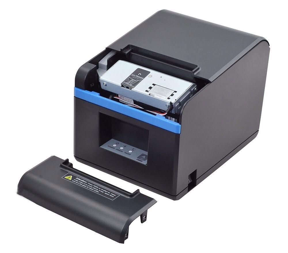 חדש הגיע 80mm אוטומטי-חותך תרמית קבלת מדפסת קופה מדפסת עם USB/Ethernet/USB + Bluetooth יציאת