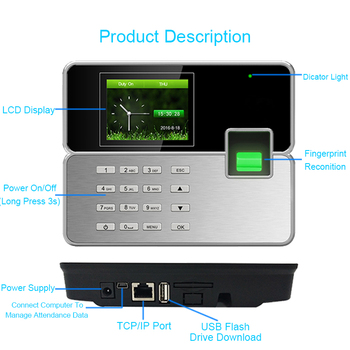 Attendance Control System Biometric Fingerprint Time Attendance System TCPIP USB Reader Time Recorder Clock Employee Machine biometric fingerprint time attendance system clock recorder electronic office attendance recorder timing employee machine reader