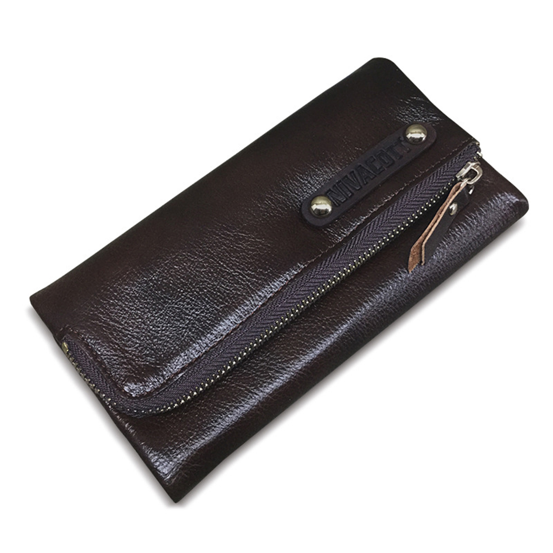 Genuine Cowhide Leather Wallets for Men Real Leather Zipper Long Purse Wallets Credit Card Holder Male Clutch simline fashion genuine leather real cowhide women lady short slim wallet wallets purse card holder zipper coin pocket ladies