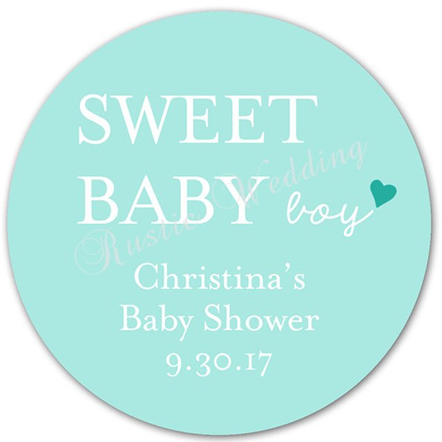 Amazing Sweet Baby With Heart, Custom Baby Shower Labels   Personalized Baby Shower  Stickers, Favor