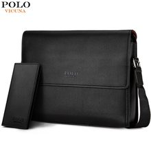 VICUNA POLO Brand Business Man Bag High Quality Casual Cross Body Shoulder Bag Vintage Mens Briefcase Messenger Bag Man Handbag(China)