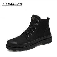 New Product Head Layer Of Real Cowhide Boots Non Slip Male Boots Wool Cashmere Keep Warm