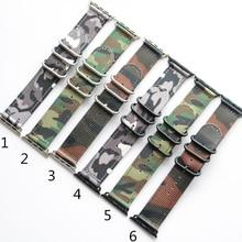 TJP Ddesign Spécial Top Qualité Nylon Camouflage Armée Vert Sport Apple Bracelets Montres 38 MM 42 MM Iwatch Bracelet Avec adaptateur