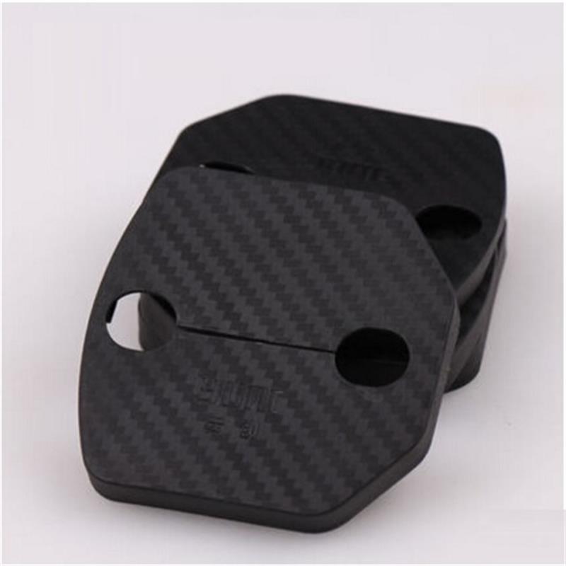 4pcs / set accessoires de voiture de serrure de porte couvercle de protection serrure de porte boucle décoration pour volvo s60 xc60 v60 v40
