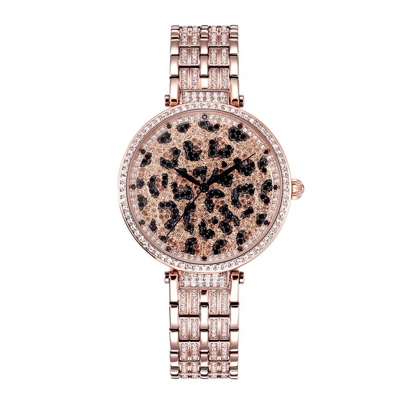 New Relogio Feminino Leopard Female Watches Woman Quartz Watch Ladies Full Diamond Waterproof Watch Top Brand Luxury Steel Table shengke top brand luxury watch woman fashion steel quartz watch female monterrey woman watch relogio feminino reloj mujer 2017