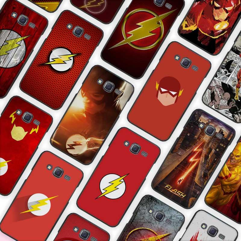 Flash Man Superhero Black Case Cover Shell Protective for Samsung Galaxy J1 J2 J3 J5 J7 2016 2017