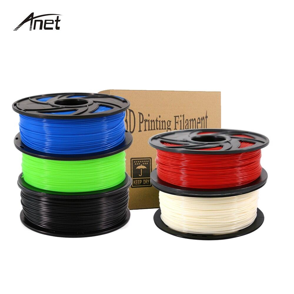 Anet 10pcs ABS 1kg/roll 1.75mm 3D Printer Filaments Plastic Rod Rubber Ribbon Consumables for 3D Printer Parts ABS Filament