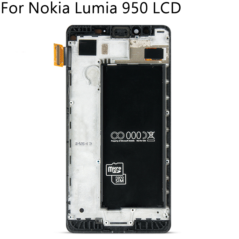 """Image 3 - 5.2"""" Tested For Nokia Lumia 950 RM 1104 1106 1118 LCD Display Touch Screen With Frame Digitizer Assembly Replacement Free Tools-in Mobile Phone LCD Screens from Cellphones & Telecommunications"""