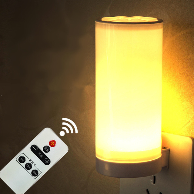220v Led Remote Control Dimmer Night Light Wireless Babby Bedroom Bedside Lamp Indoor Lighting