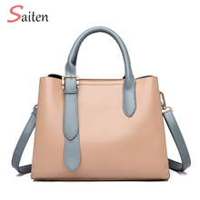 Simple and Elegant Leather Handbags Women Casual Tote Bags High Quality Female Large Capacity Ladies For